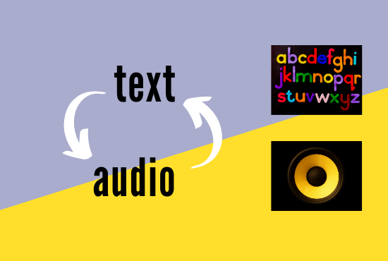 text to audio and audio to text transcription